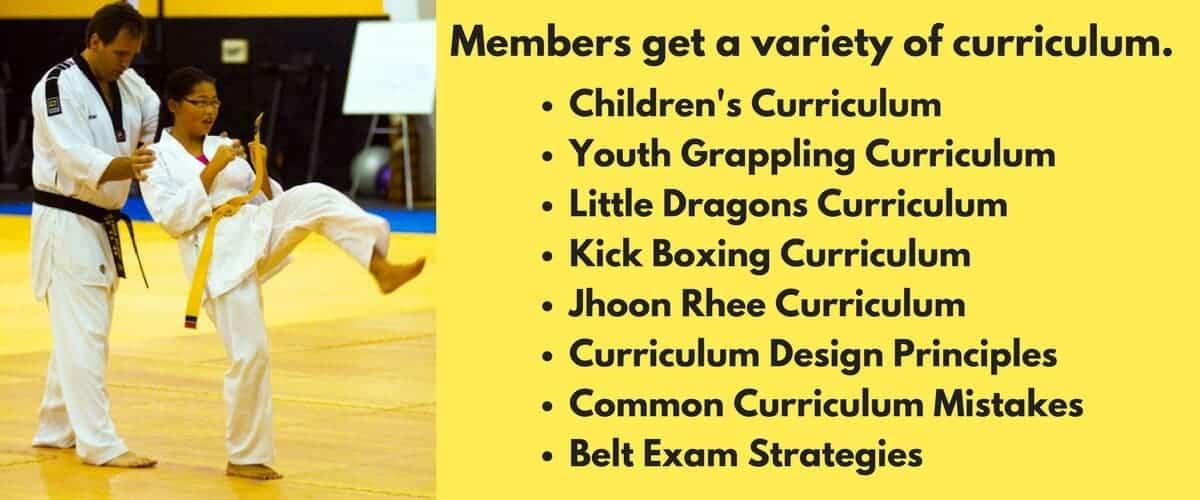 martial arts curriculum