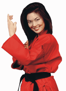 female martial arts instructor
