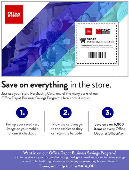 Office Depot and OfficeMax savings in-store and online powered by our nationwide buying group.