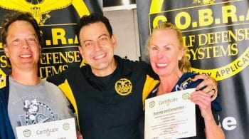 self defense business students with their instructor