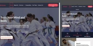 martial arts school website design