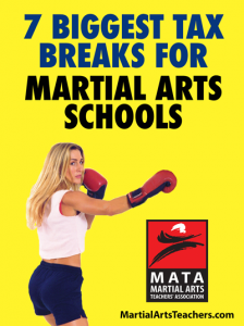 tax breaks for martial arts
