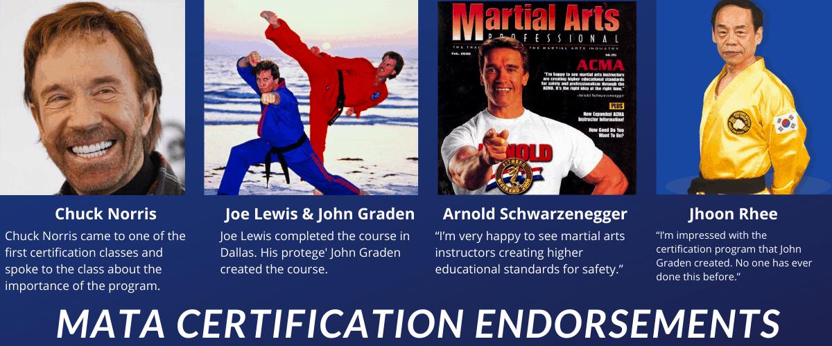 chuck norris endorses martial arts instructor certification program